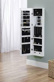 jewelry box wall mounted cabinet white over the door wall hang mirrored armoire by innerspace on