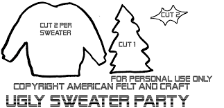 ugly sweater felt christmas ornaments u2013 hipster week american