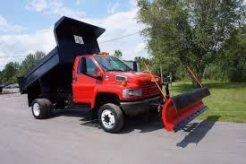 2006 gmc topkick c5500 4x4 dump truck snowplow duramax diesel auto
