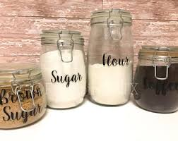 what to put in kitchen canisters canister labels etsy