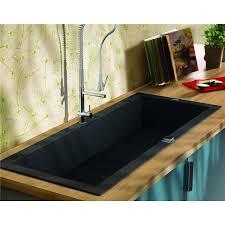 bac evier cuisine evier de cuisine reversible à encaster 1 cuve en résine minérale