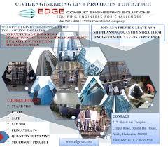 final year civil projects b tech m tech u2013 edge consult