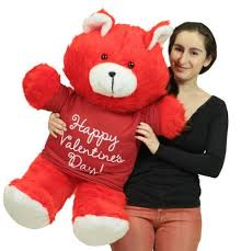 valentines day bears happy valentines day 36 inch teddy soft wears