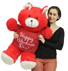 big valentines day happy valentines day 36 inch teddy soft wears