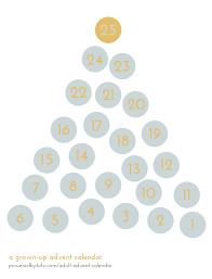 how to make a grown up advent calendar