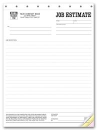 Estimate Sheet Templates Free Printable Blank Bid Forms Printable Quote Template