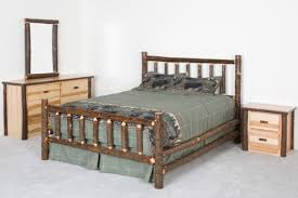 hickory log bed rustic and cabin furniture
