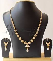 fashion necklace set images Buy beautiful handmade cz designer necklace set dj17032 online jpg