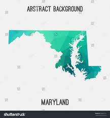 maryland map vector maryland map geometric polygonalmosaic styleabstract