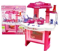 Kitchen Sets For Girls Pretend Play Kitchen Set For Kids Cooking Food Toy Pink Playset