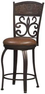 30 Inch Bar Stool With Back Linon 02610mtl 01 Kd U Carved Crown 30 Inch Bar Stool Antique