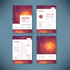 business report template with low poly background royalty free