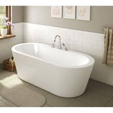 a e bath and shower una 71 inch acrylic oval freestanding bathtub a e bath and shower una pure acrylic 71 in all in one oval freestanding tub kit