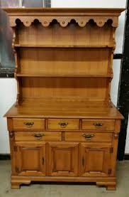 Kitchen China Cabinet Hutch Vintage Hard Rock Maple Tell City China Hutch Buffet Cabinet