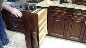 Kitchen Cabinet Pull Out Storage Hidden Spice Rack In Custom Kitchen Cabinet Youtube