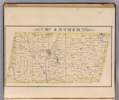 Logan Ohio Map by Mcarthur Township Logan County Ohio David Rumsey Historical