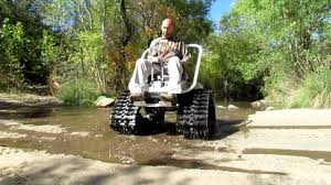 Power Chair With Tracks Gas Powered Wheel Chair Youtube