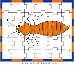 printable jigsaw puzzle for kids ant jigsaw
