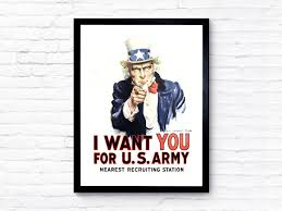 uncle sam poster i want you for the us army art vintage us
