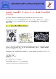 100 hyundai sonata parts manual hyundai sonata parts