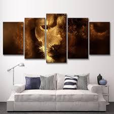 aliexpress com buy 5 pcs set animals lion canvas painting modern