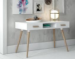 Modern Oak Desk Marvelous Modern White Desk With Oak Legs And In Contemporary Plan