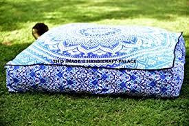 amazon com square floor pillow large ottoman pouf cover hippie