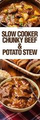 slow cooker thick u0026 chunky beef stew recipe stew crockpot and