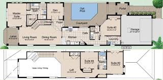 modern floor plan modern house plans with courtyards in the middle floor plan