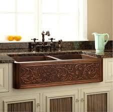 Kitchen Sink Copper Farm Style Kitchen Sink And Ornate Copper Kitchen Sink 75