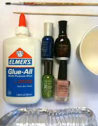 use glue to keep from making a mess when doing your nails great