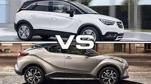 2018 opel crossland x vs 2017 toyota c hr youtube