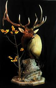 Deer Pedestal Pedestal Mount With Deadfall And Brush With Pine Trees As Base