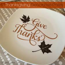 1 diy thanksgiving decorative plates and a giveaway vinyl
