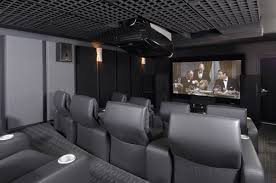Home Theatre Decorations by Interior Graceful Light Gray Home Theater Feature Silver Doff