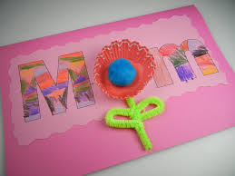 colored paper skies mother u0027s day card for kids to give
