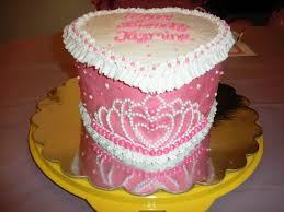 Tiara Cake Strawberry Heart Shaped Cake With Buttercream Icing