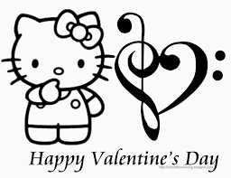 7 hello kitty valentines coloring pages for kids