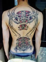 biomechanical tribal tattoos on back shoulder for men photo 1