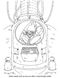 dragon ball z goku coloring pages dragon ball z color page