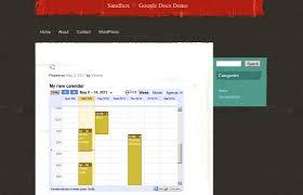 Google Spreadsheet Widget Now Share Google Docs And Google Calendars U2014 The Wordpress Com Blog