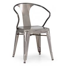 Steel Dining Chairs Gunmetal Dining Chair