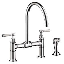 hans grohe kitchen faucets shop hansgrohe axor kitchen chrome high arc kitchen faucet with