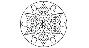 Rangoli Coloring Pages Simple Colouring For Adults Pattern Image Of