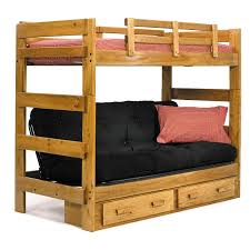 Bunk Beds  Twin Over Futon Bunk Bed Wood Acme Eclipse Twin Over - Full futon bunk bed