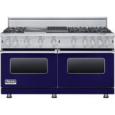 viking freestanding double oven gas convection range cobalt