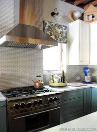 stainless steel subway tile kitchen backsplash home improvement