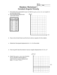 rotation worksheet 1 constant angular velocity