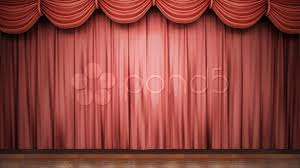 stage curtains open