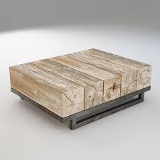3d asset wood coffee table beams cgtrader